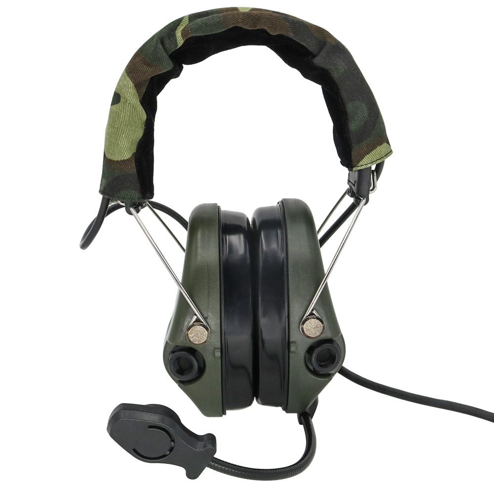 Cep telefonları ve Telekomünikasyon Ürünleri'ten El Telsizi Parçaları ve Aksesuarları'de Taktik elektronik kulaklıklar pikap gürültü azaltma Sordin kulaklık Airsoft askeri taktik Softair Walkie Talkie kulaklık FG title=
