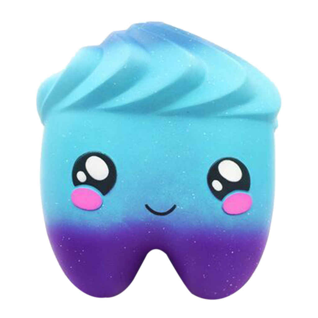 Jumbo Cartoon Tooth Interesting Novelty Toy Slow Rising Scented Stress Relief Toys Inger Rehabilitation Training Props #C