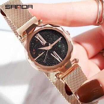 2020 Luxury Brand lady Crystal Watch Magnet buckle Women Dress Watch Fashion Quartz Watch Female Stainless Steel Wristwatches