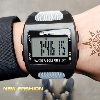 Diving Watch Men Digital Watch LED Waterproof Sport Watch Men Cool Big Electronic Watch Men Multi Function buceo часы мужские