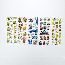 5pcs 3D Children stereoscopic Puffy Bubble Cartoon Winnie the Pooh Mickey Mouse Animal  girl boy cartoon anime stickers