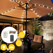 104 LED Solar Garden Umbrella light Outdoor Waterproof IP67 String Lights Light Sensor Control Garden Decorative Lamp