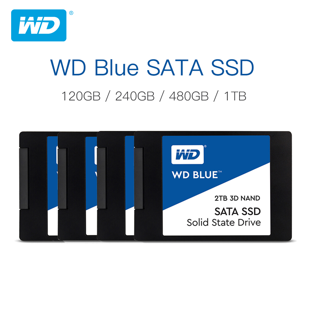 Western Digital Blue <font><b>SSD</b></font> interne Solid State Disque 250GB <font><b>500GB</b></font> 1TB 2TB - SATA 6 Gbit/s 2.5