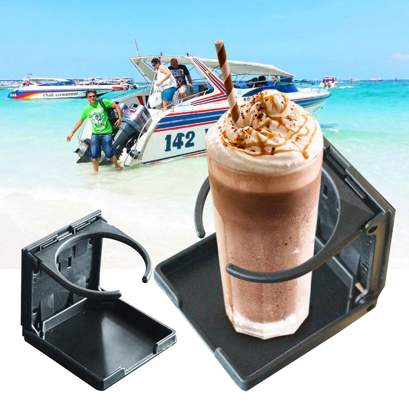 Car Yacht Folding Beverage Drink Bottle Can Coffee Cup Mount Stand Holder Universal Vehicle Marine Boat Cup Accessories