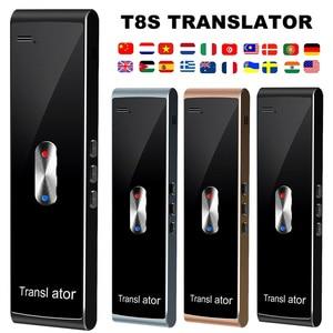 Image 1 - נייד חכם מיידי קול מתורגמן T8S רב שפה הדיבור אינטראקטיבית מתורגמן Bluetooth בזמן אמת