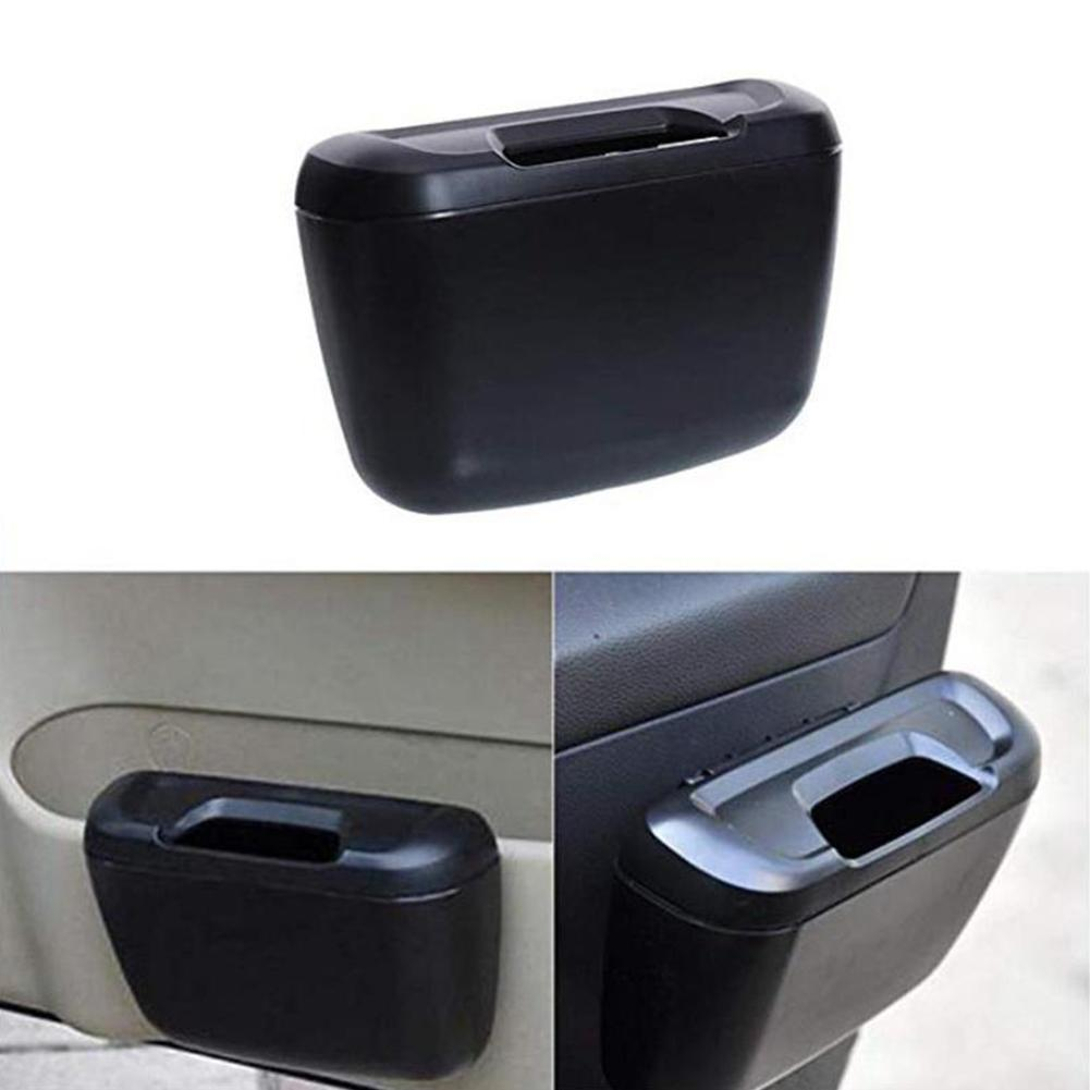 1pcs Universal Car Garbage Can Door Hanging Trash Bin Storage Box Dust Automobile Storage Box Garbage Accessories Car Case G9Z6