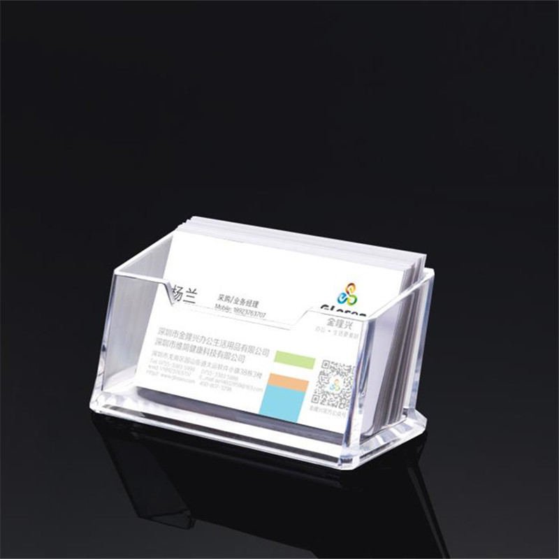 1 Pcs Clear Desk Shelf Box Storage Display Stand Acrylic Plastic Transparent Desktop Business Card Holder One Layer