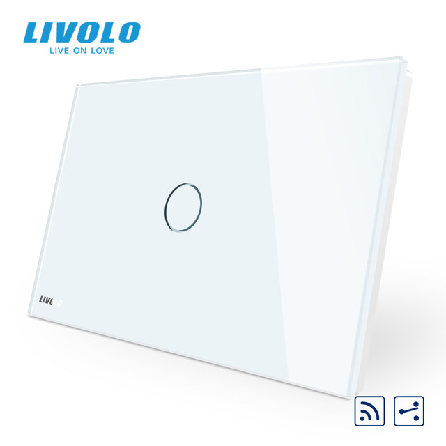 Livolo US C9Standard Wall Touch Switch, interruptor with LED indicator, remote cross control,Crystal Glass Panel