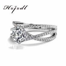 Ювелирные изделия 18k золото муассанит кольцо с бриллиантом помолвка и свадьба для женщин