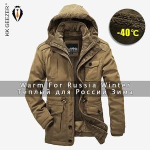 Image 1 - Winter Jacket Men Parkas Top Warm Waterproof Big Size Thicken Male Heavy Wool 2 in 1 Coat High Quality Fleece Cotton Padded