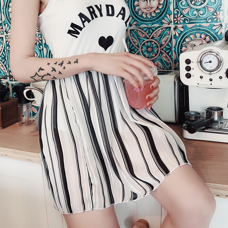 New Products Sports Fashion Stripes Yarn Quality Short Skirt Outdoor Beach Skirt Bohemian Style Skirt Swimsuit Outdoor