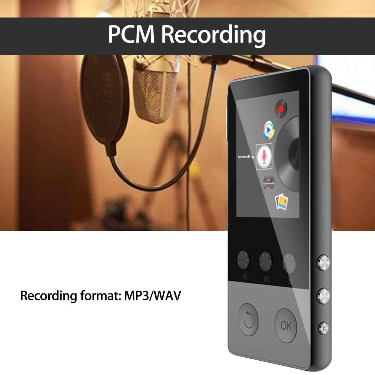 まで 128 ギガバイト bluetooth MP3 プレーヤーイヤホンハイファイ fm ラジオスポーツ MP 4 ハイファイポータブル音楽プレーヤー音声録音レコーダー TF カード