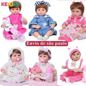 Прямая поставка, 17 дюймов, 42 см, живая игрушка для маленьких девочек, реалистичные мягкие силиконовые куклы для новорожденных с бесплатным р...