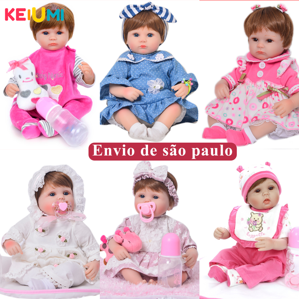 "Dropshipping 17 ""42 cm Vivo Bebês Menina Brinquedo Realista Silicone Macio Renascer Baby Dolls Com o Mercado Livre Brinquedos De Menina"
