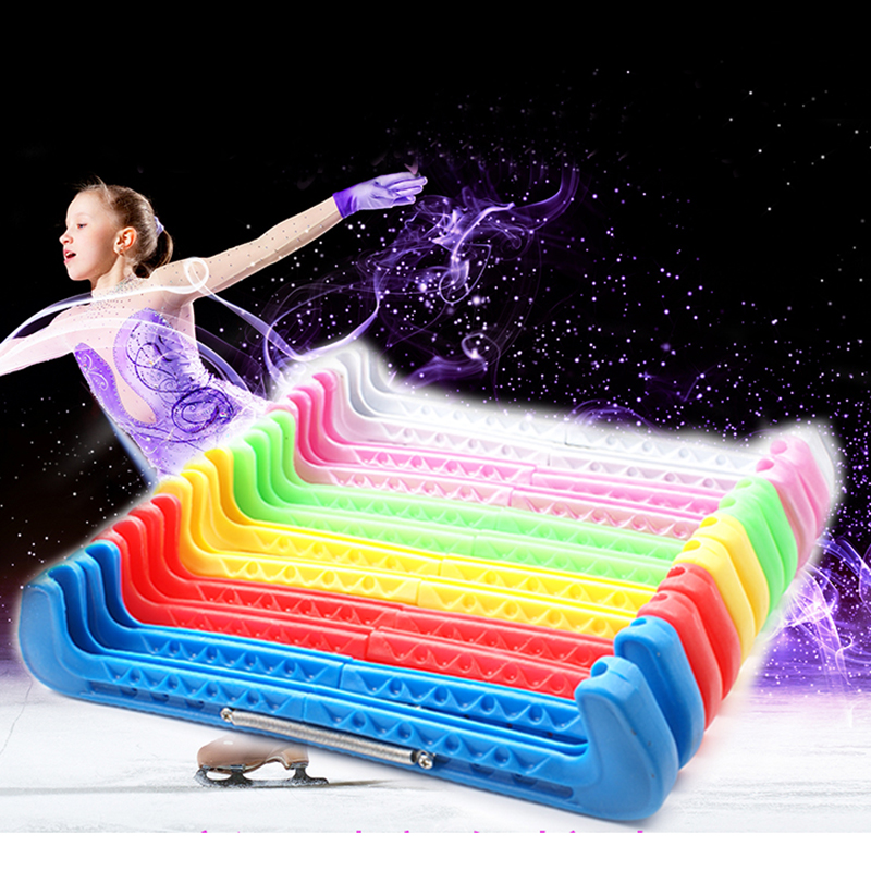 1 Pair Figure Skate Shoe Cover Ice Knife Blade Protector Sleeve Nylon PVC Cold-resistant Adjustable Anti-slide 5 Colors