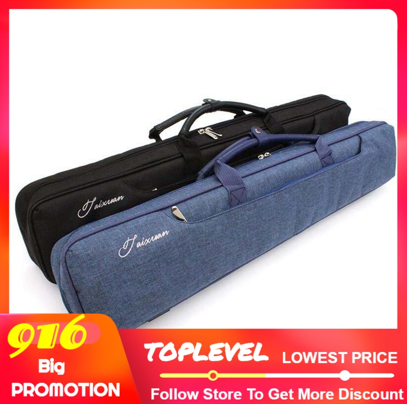 New Arrival Soft 4 Shafts 3 Butts Canvas Billiard Pool Stick Cues Kit Portable Carrying Case 3x4 Black Blue Colors China 2019