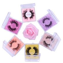New 1 pair Mink Eyelashes Natural Fake eyelashes Hand Made Soft Comfortable Fluffy Lashes Wedding Party Makeup