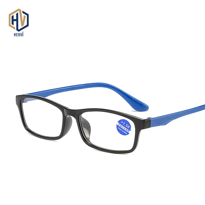 Anti-Blue Light Reading Glasses Fashion Ultra-light TR90 Frame Eyeglasses Men Eyewear Women Presbyopia Glasses