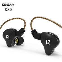 2020 kbear ks2 híbrido dd + ba na orelha fone de ouvido com 0.78mm pino tfz earbud alta fidelidade esporte correndo jogo earplug kbear kb06 kb04 tri i3