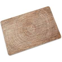 Прямая поставка деревянный коврик тонкий резиновый Противоскользящий