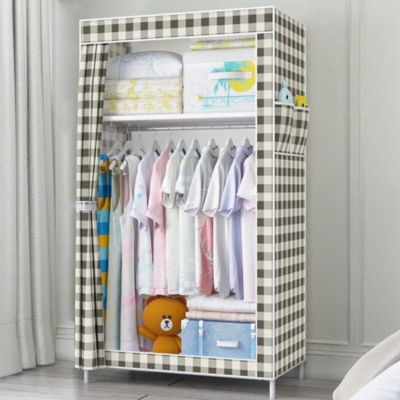 70*45*150  Non-woven Cloth Wardrobe Folding Portable Clothing Storage Cabinet Dustproof Cloth Closet Simple Bedroom Multipurpose 1