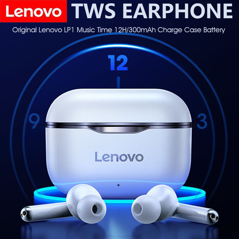 New Original Lenovo LP1 Wireless Bluetooth Headset V5 0 Touch Earphone Stereo 300mAh Durable Battery IPX4 Waterproof
