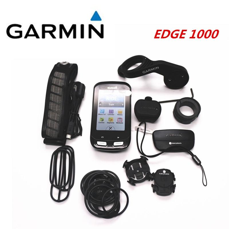 Garmin Edge 1000 GPS bike bicycle Cycling Computer & Extension Mount ANT+ Speed Cadence Dual Sensor Heart Rate Monitor English