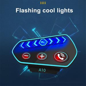 Image 3 - سماعة رأس بلوتوث 5.0 A10 للدراجات النارية ، مع ميكروفون IP67 ، LED ، مقاوم للماء ، لاسلكي ، للمكالمات والموسيقى