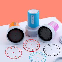 1 PC Learning Recognition Teacher Teaching Seal Clock Dial Stamps Primary School Seal Kids Children Toys 30mm In Diameter New