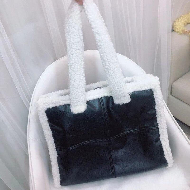 Moda cor sólida de lã feminina sacos