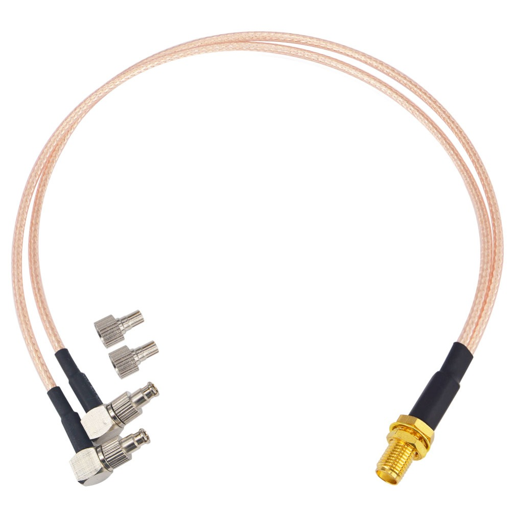 FME male to Y type 2x TS9 male right angle Splitter Combiner cable pigtail RG174 6 1M2M Quick USA Shipping