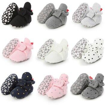 Skarpetki dla noworodków buty chłopiec dziewczyna gwiazda maluch buciki buciki bawełna komfort miękkie antypoślizgowe ciepłe łóżeczko dziecięce buty