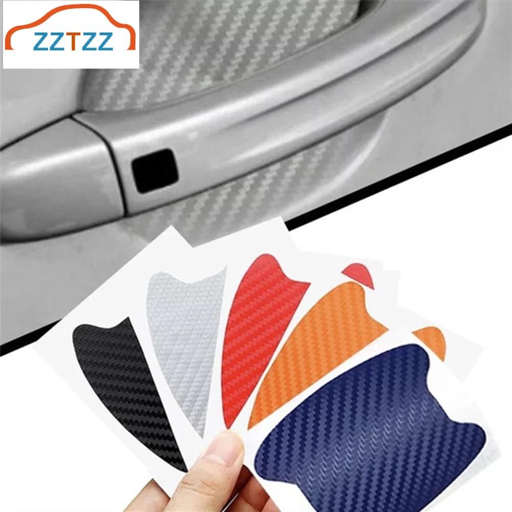 4Pcs/Set Car Door Sticker Scratches Resistant Cover Car Handle Protection Film Automotive Car Exterior Decoration Dropshipping Car Stickers  - AliExpress