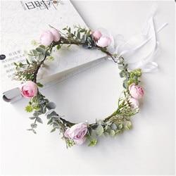 CC Wedding Hair Accessories for Women Bridal 100% Handmade Flower Leaf Shape Romantic Party Seaside Headdress Hairwear DIY 4001