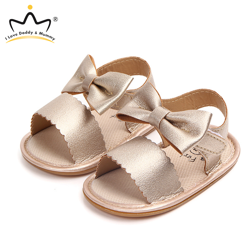 Summer New Baby Sandals Cute Bowknot Anti Slip Leather Baby Girls Sandals Sandale Fille Toddler Baby Shoes