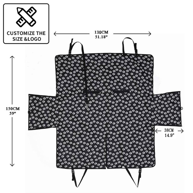 CAWAYI KENNEL Dog Carriers Waterproof Rear Back Pet Dog Car Seat Cover Mats Hammock Protector with Safety Belt Transporting- 6