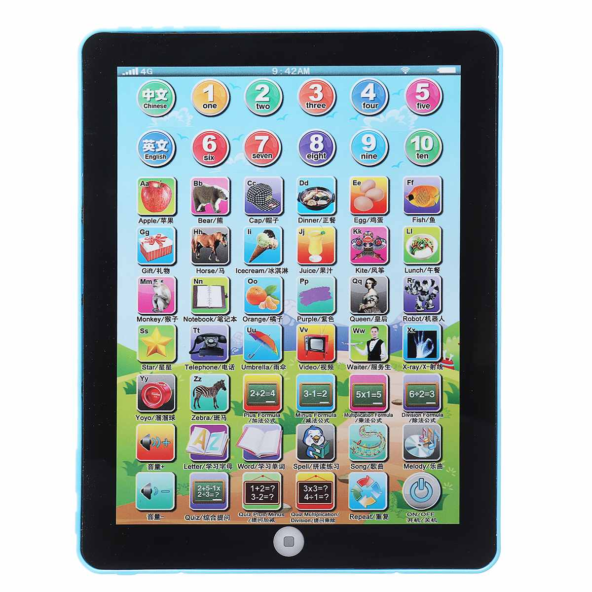 Digital Kids Early Education Tablet Learning Machine Girls Boys Learning Teaching Toys Study English Voice Educational Kids Toy