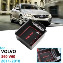 Samochód organizer akcesoria dla Volvo S60 Volvo V60 podłokietnik ze schowkiem do przechowywania rozmieszczenie Tidying 2011 2012 2013 2014 2015 2016 2017 2018 w Naklejki samochodowe od Samochody i motocykle na