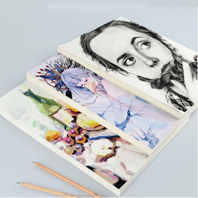 20sheets 160g Lead Paper Sketch Paper Sketchbook Art Drawing Watercolor Paper Gouache Drawing Paper