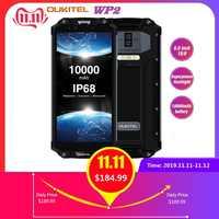 OUKITEL WP2 IP68 Impermeabile A Prova di Urti Polvere Del Telefono Mobile 4GB 64GB MT6750T Octa Core 6.0 18:9 10000mAh Impronte Digitali Smartphone