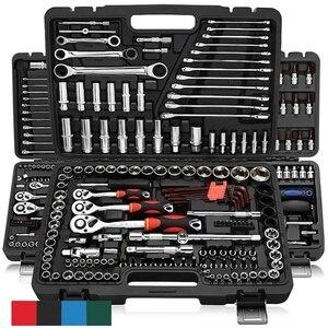 46 pçs soquete catraca ferramenta de reparo do carro conjunto chave cabeça catraca pawl soquete chave chave chave de fenda profissional kit de ferramentas metalúrgicas