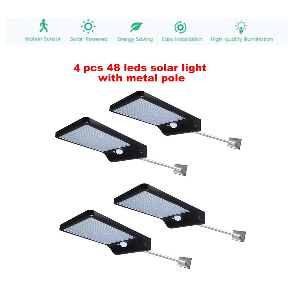2/4pcs 48 LEDs Solar Light PIR Motion Sensor Solar Garden Light Waterproof Outdoor Energy Saving Street Yard Path Home Lamp secu|Solar Lamps| |  - title=