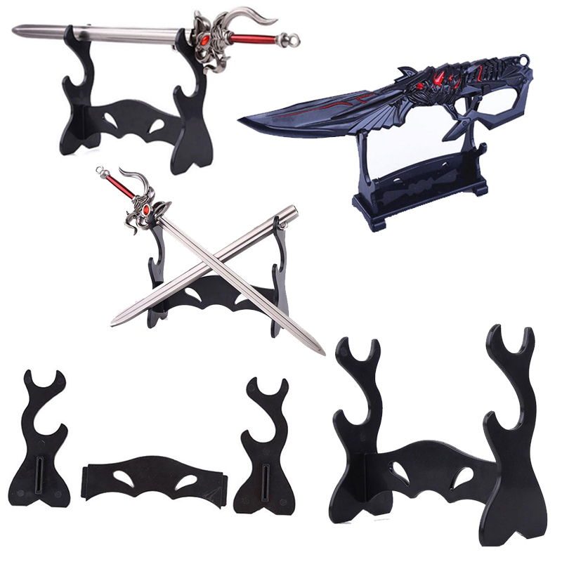 DIY Stand Sword Gun Knife Weapon Model Plastic Display Anime Game Accessories Holder Rack Pendant Toys Souvenirs Gift For Fans