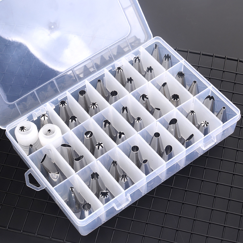 51 PCS Cream Cake DIY Stainless Steel Cake Mould Decorating Tip Nozzle Set