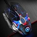Игровой Мышь 7 Кнопка точек на дюйм Точек на дюйм регулируемый компьютерная оптическая светодиодный игровая мышь USB Проводная игры кабельна...