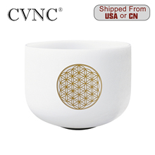CVNC 8inch Note C or F Chakra Frosted Quartz Crystal Singing Bowl 8