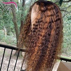 Elva волосы 130% Плотность 13*4 Кружева передние человеческие волосы парики с детскими волосами для черных женщин предварительно выщипывания во...