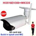 Camhi imx335 reconhecimento humanóide 4mp 5mp câmera ip sem fio ao ar livre câmera de segurança ir 128 gb cartão sd construir no microfone alto-falante onvif