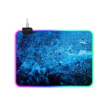 Gaming Mouse Pad Computer Mousepad RGB Large Mouse Pad  XXL Starry Sky Glowing Mouse Pad Pad PC Desk Play Mat With Backlit 001 daisy flower and blue sky round mouse pad