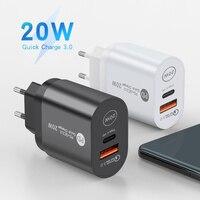 Elettronica usb tipo c carregador mini carga rápida 3.0 qc pd 20w carregador do telefonone móvel para o iphone 12 samsung xiaomi carre
